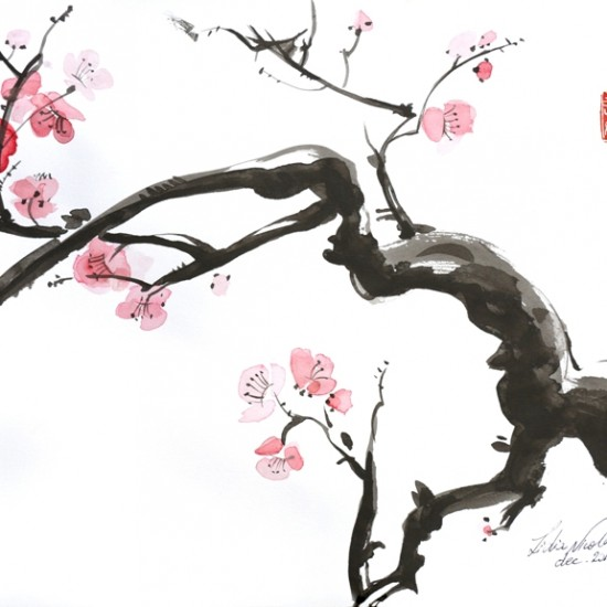 SAKURA 2016 ink on paper 30x42 cm