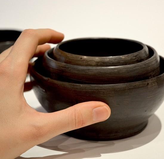 Black collection Trio Bowls 13cm H x 7cm W